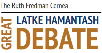 Since 1946, this funny event has debaters argue the merits of latke vs. hamantash